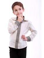 Вышиванка для мальчика «Думка» молочного цвета