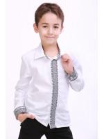Вышиванка для мальчика «Думка» с серым орнаментом