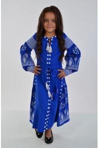 Сукня для дівчинки «Розкіш» довга синього кольору