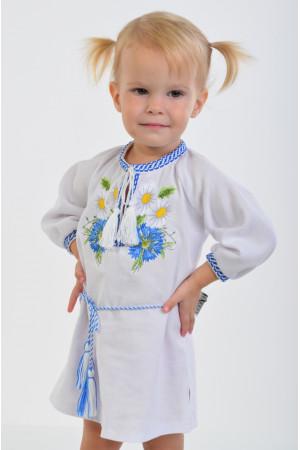 Платье для девочки «Васильковые мечты» с поясом