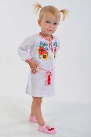 Сукня для дівчинки «Український букет»  з поясом