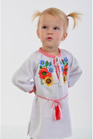 Платье для девочки «Украинский букет» с поясом