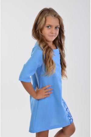 Платье для девочки «Феерия» голубого цвета