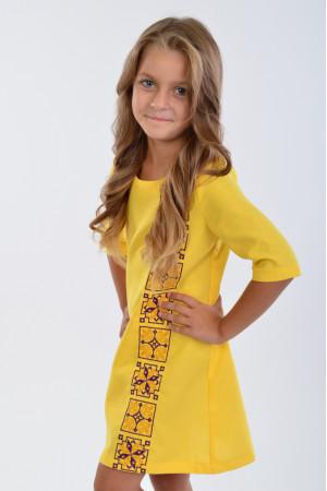 Сукня для дівчинки «Феєрія» жовтого кольору