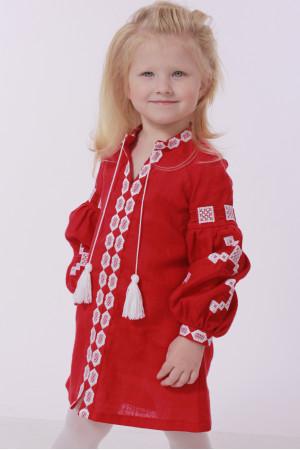 Платье для девочки «Грация» красного цвета