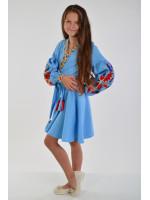 Платье для девочки «Колорит» голубого цвета