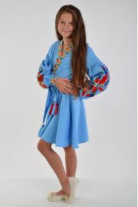 Сукня для дівчинки «Колорит» блакитного кольору