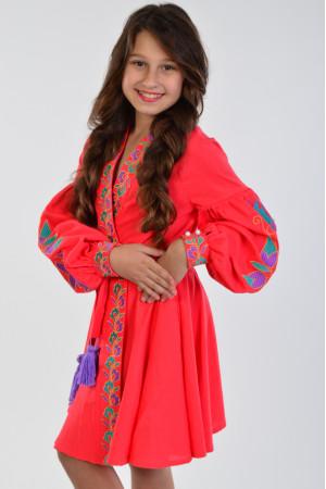 Сукня для дівчинки «Колорит» коралового кольору