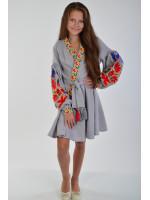 Сукня для дівчинки «Колорит»  сірого кольору