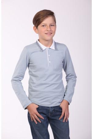 Поло для мальчика «Стимул» серого цвета