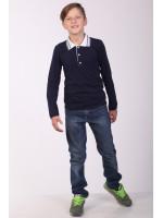 Поло для хлопчика «Стимул» темно-синього кольору