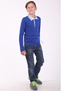 Поло для мальчика «Стимул» синего цвета