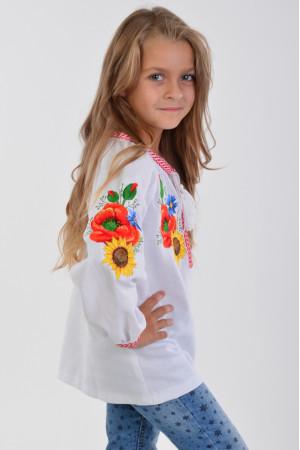 Вишиванка для дівчинки «Український букет»