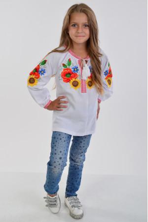 Вышиванка для девочки «Украинский букет»