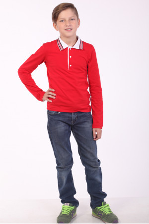 Поло для мальчика «Стимул» красного цвета