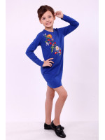 Платье для девочки «Весеннее» синего цвета