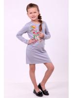 Платье для девочки «Весеннее» серого цвета