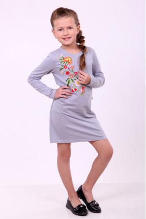 Сукня для дівчинки «Весняна» сірого кольору