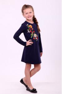 Сукня для дівчинки «Весняна» темно-синього кольору