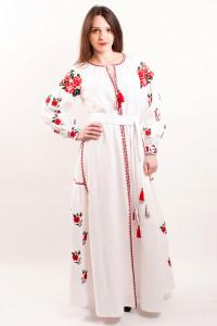 Платье «Украинская традиция» белого цвета