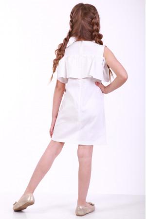 Сукня для дівчинки «Мак польовий» білого кольору