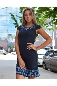 Сукня «Традиція» темно-синього кольору КР