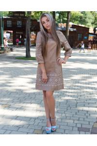 Сукня «Традиція» на бежевому льоні