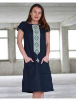 Платье «Буковель» темно-синего цвета