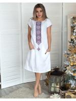 Сукня «Буковель» білого кольору
