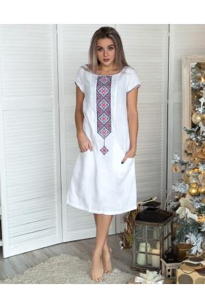 Платье «Буковель» белого цвета