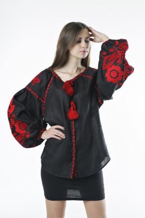 Вышиванка «Бохо» черного цвета