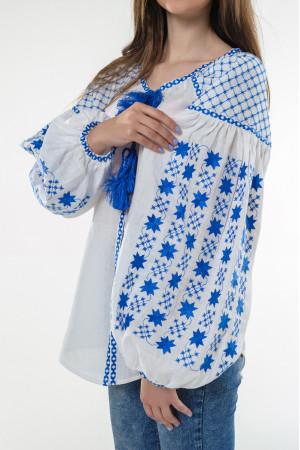Вишиванка «Зоряна ніч» з вишивкою блакитного кольору