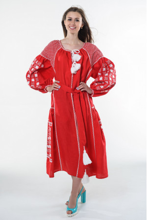Платье «Звездная ночь» красного цвета