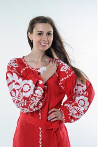 Платье «Бохо» красного цвета