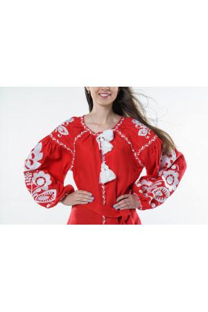 Сукня «Бохо» червоного кольору