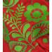 Платье «Бохо» с вышивкой зеленого цвета