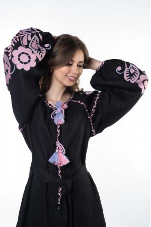 Сукня «Бохо» з вишивкою рожевого кольору