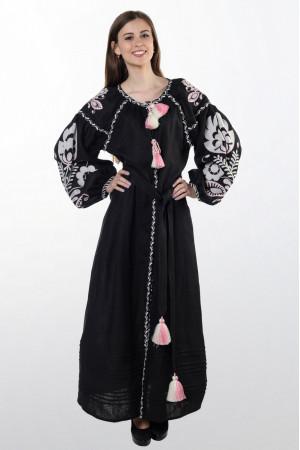 Платье «Бохо» черного цвета