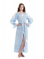 Сукня «Ружа» блакитного кольору з зібраним рукавом