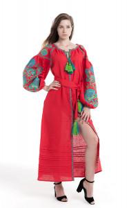 Сукня «Дерево життя» червоного кольору