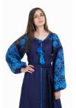 Сукня «Дерево життя» синього кольору, довга