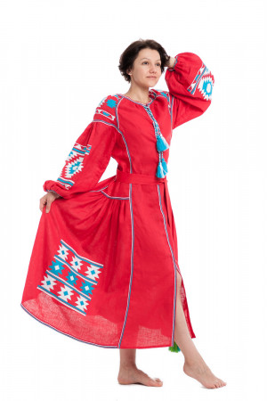 Платье «Рассвет» красного цвета