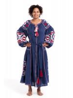 Платье «София» синего цвета