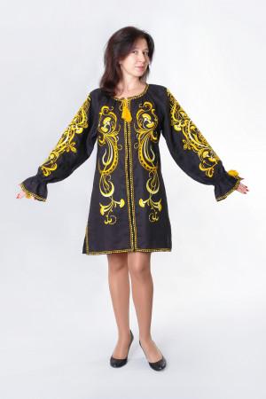 Платье «Травы» черного цвета