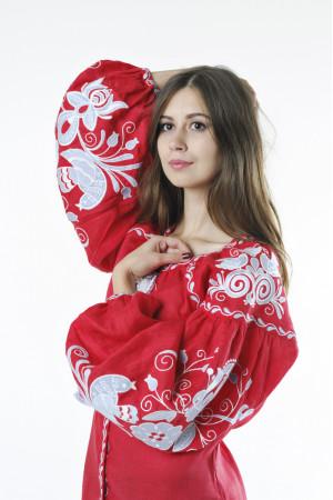 Вишиванка «Птахи» червоного кольору