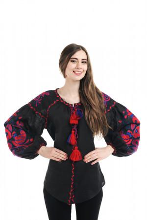 Вишиванка «Птахи» з вишивкою червоно-синього кольору