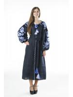Сукня «Птахи» темно-синього кольору