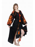 Сукня «Жар-птах» чорного кольору, довга