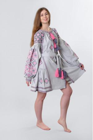 Сукня «Косів» сірого кольору, коротка