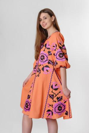 Платье «Розы» персикового цвета